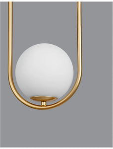 OBI Opal Glass With Brass Gold Metal 1 Light Single Pendant - ID 10554