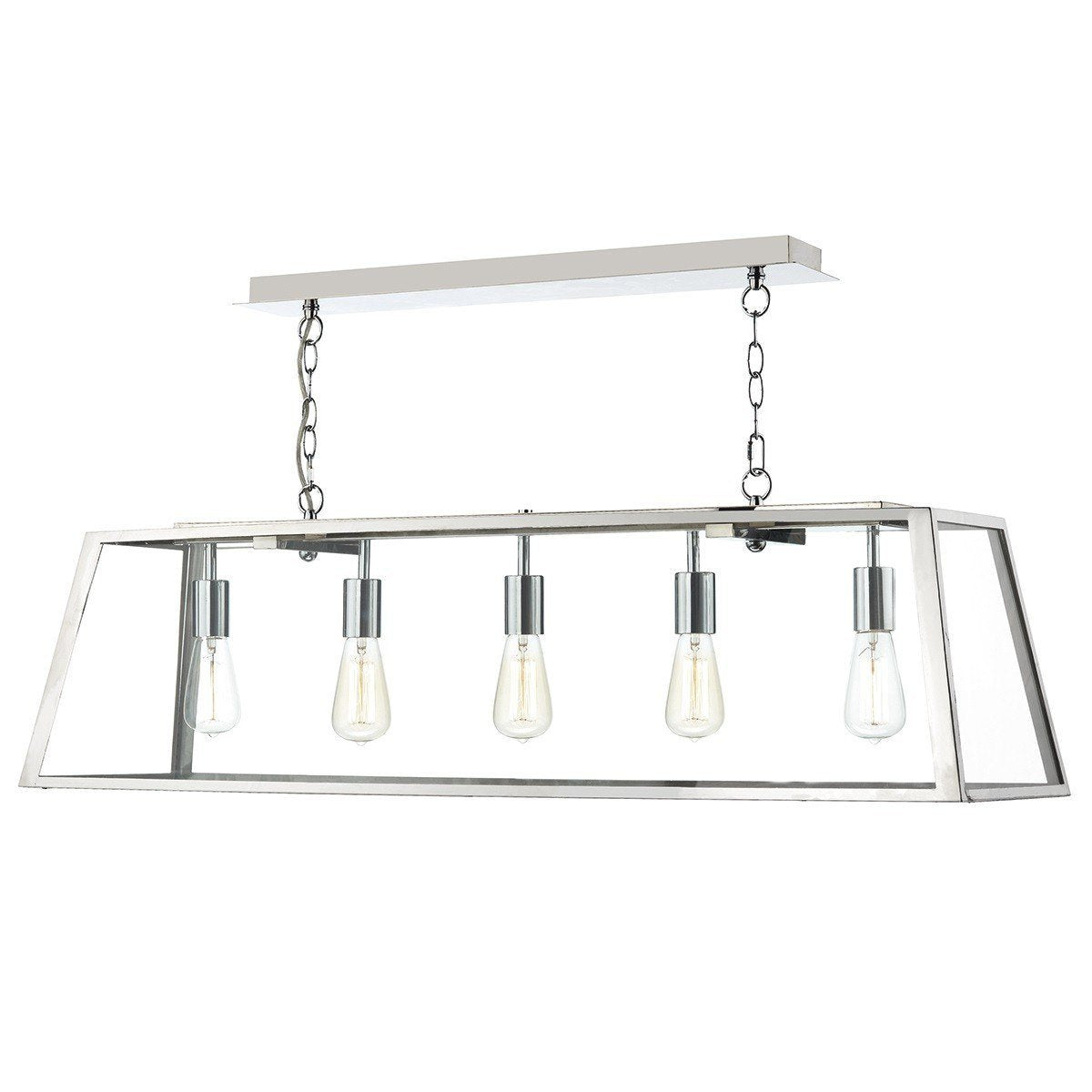 Academy Stainless Steel 5 Lights Pendant Light - London Lighting - 1