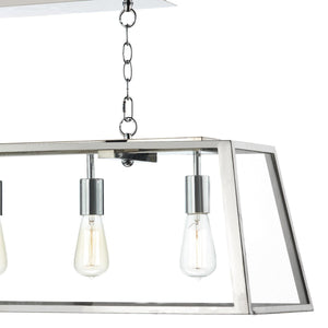 Academy Stainless Steel 5 Lights Pendant Light - London Lighting - 3