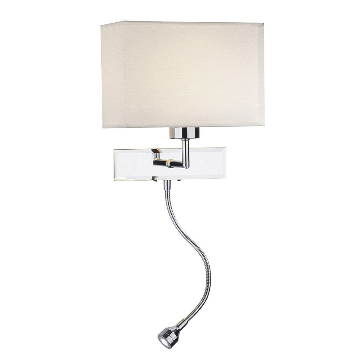Amalfi Polished Chrome Wall Light - London Lighting - 1