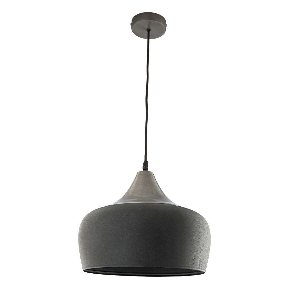 1 Light Pendant In Grey & Pewter Chrome - ID 7732