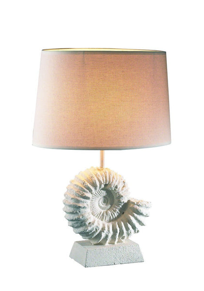 Ammonite Stone Table Lamp - London Lighting - 1