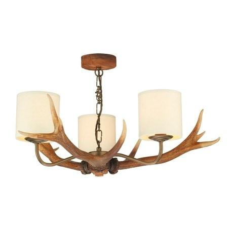 Antler Rustic 3 Lights Pendant Light - London Lighting - 1