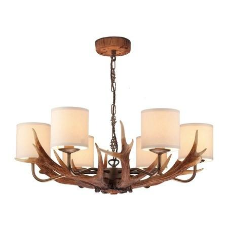 Antler Rustic 6 Lights Pendant Light - London Lighting - 1