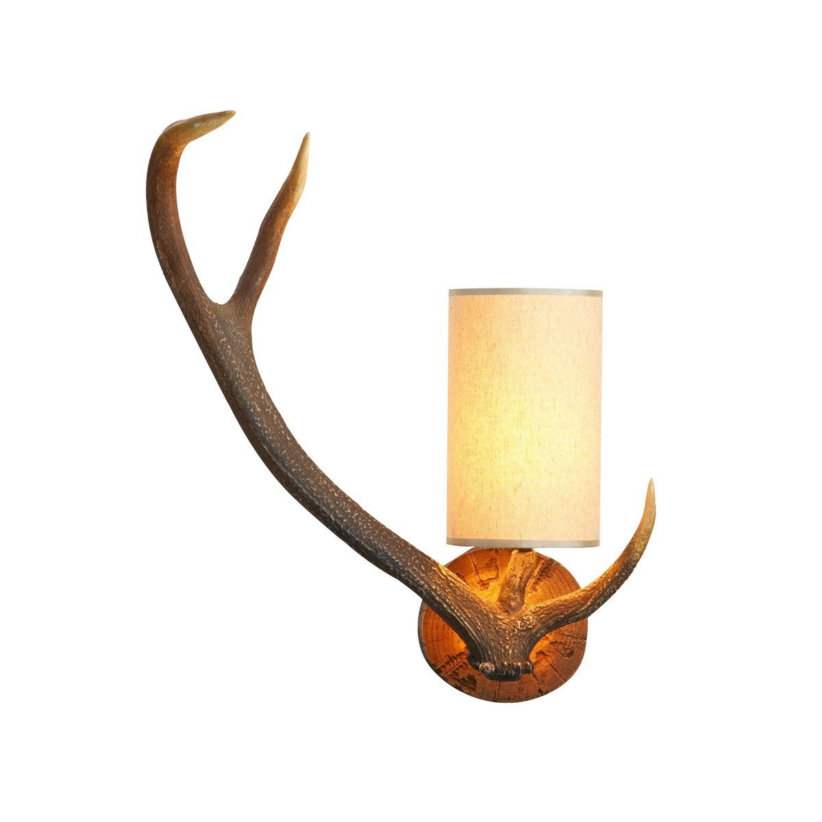 Antler Rustic Left Hand Wall Light - London Lighting - 1