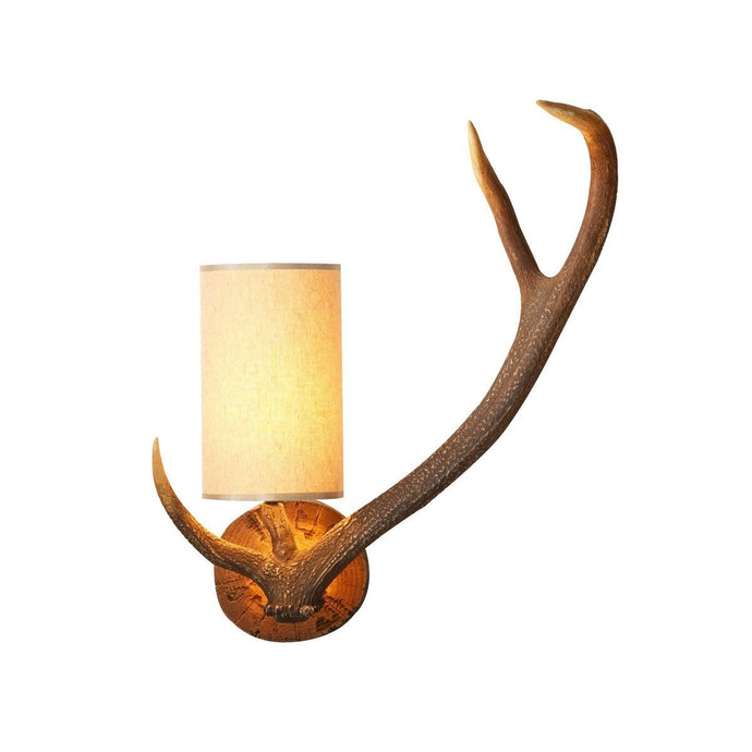 Antler Rustic Right Hand Wall Light - London Lighting - 1