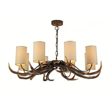 Antler Rustic 8 Lights Pendant Light - London Lighting - 1