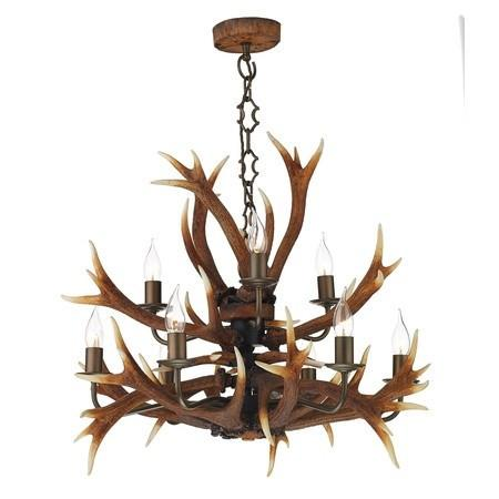 Antler Rustic 9 Lights Pendant Light - London Lighting - 1