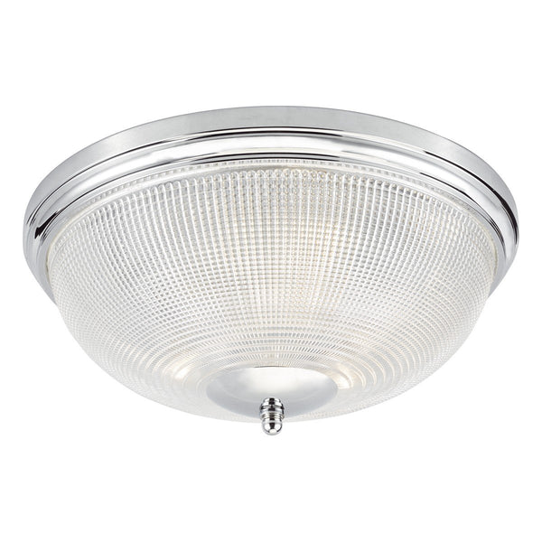 Maze Hill Polished Chrome and Glass Ceiling Light - ID 6858
