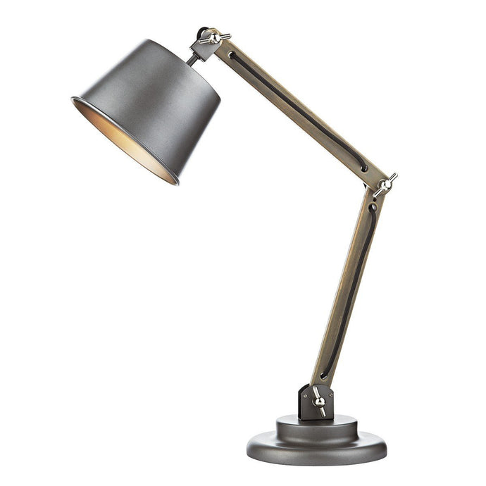 Arken Grey Metal Table Lamp - London Lighting - 1