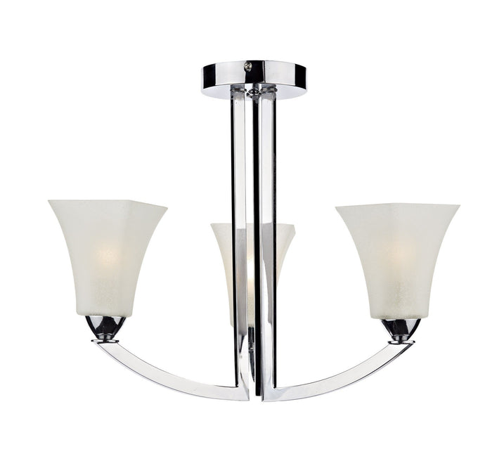 Arlington Chrome 3 Arm Ceiling Light - London Lighting - 1