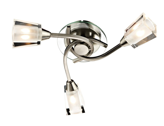 Austin Satin Chrome 3 Lamp Ceiling Light - London Lighting