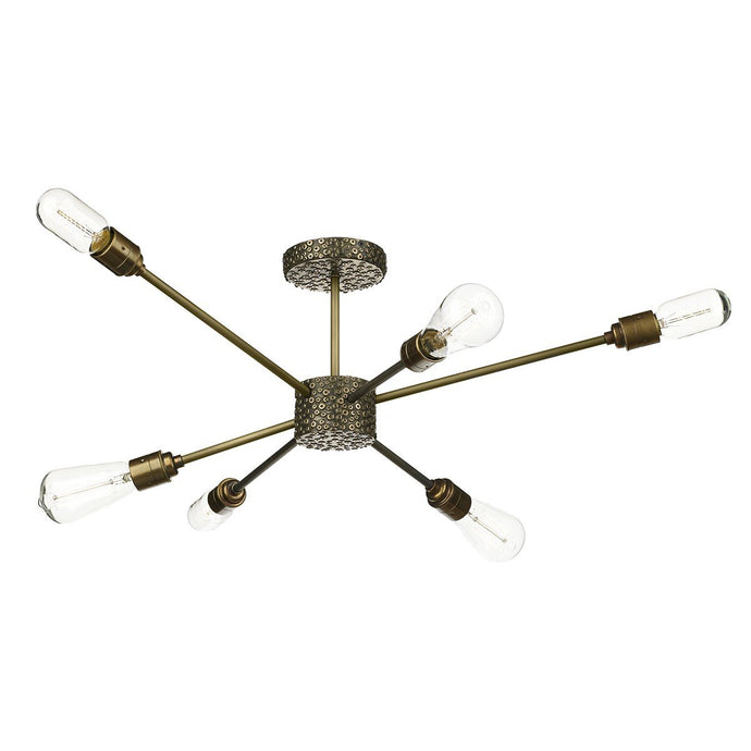Aviator Six Lamp Ceiling Light Pendant
