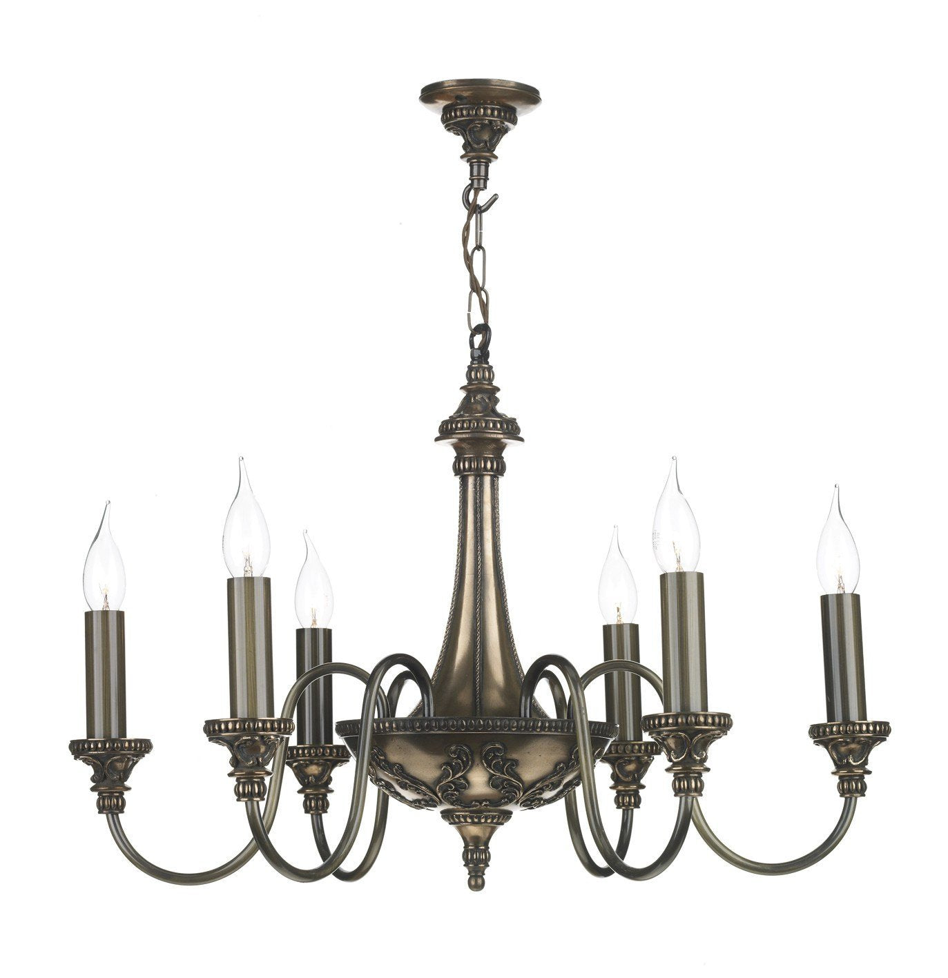 Bailey Bronze 6 Lamp Chandelier - London Lighting - 1