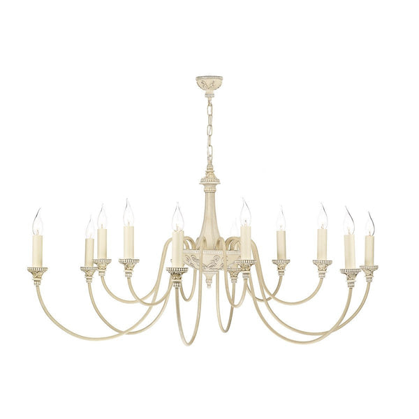 Bailey Antique Cream 12 Lights Pendant Light - London Lighting - 1