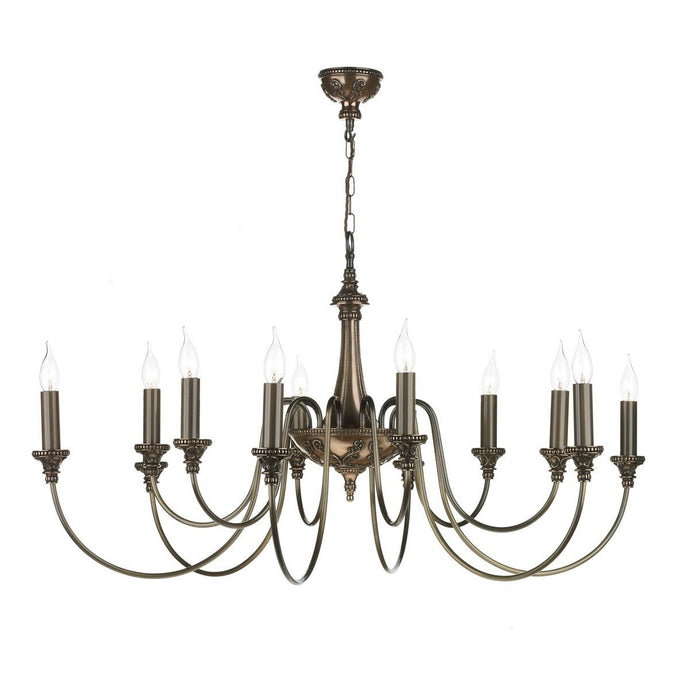 Bailey Rich Bronze 12 Lights Pendant Light - London Lighting - 1