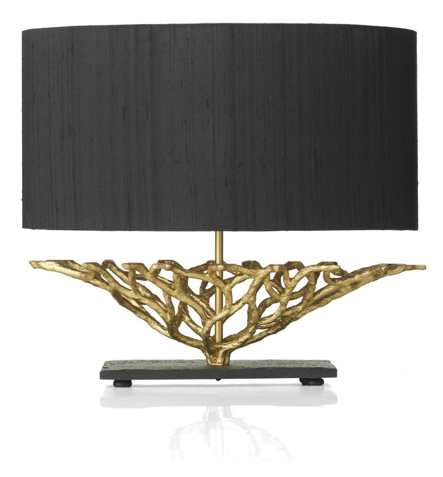 Basket Black and Gold Table Lamp - London Lighting - 1