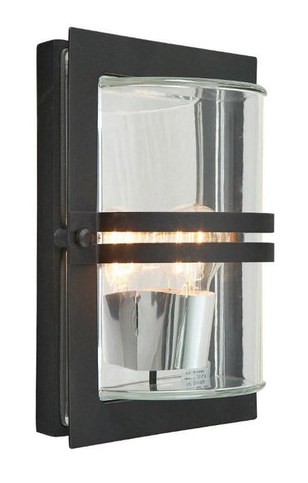 Basel Black Outdoor Wall Light - London Lighting - 1