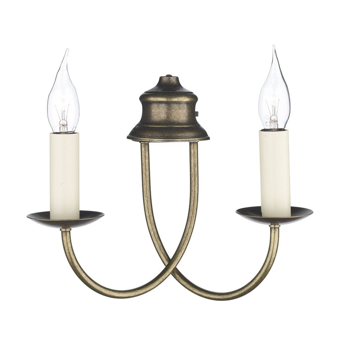 Harlington 2 Arm Wall Light In Aged Brass - ID 3525