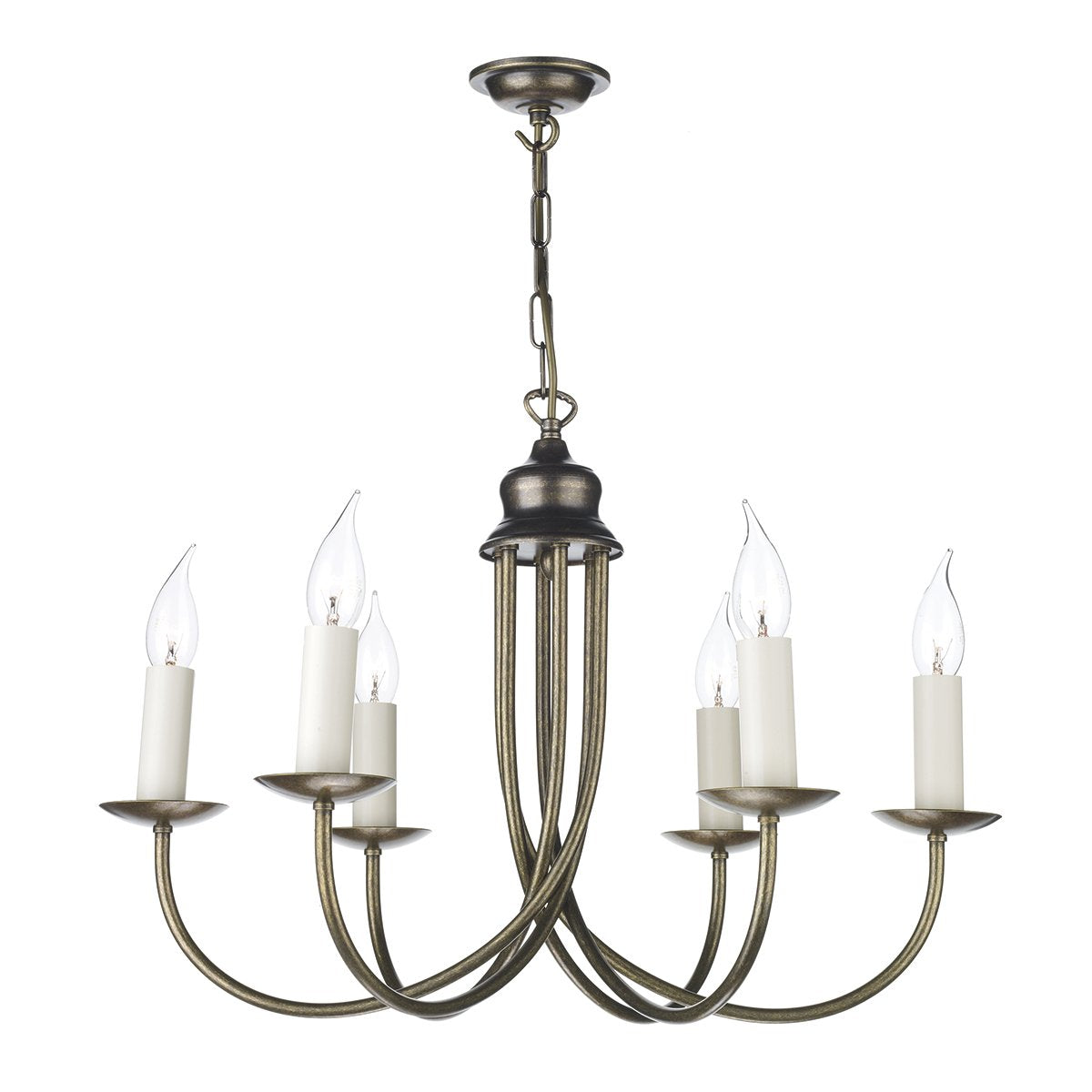 Harlington 6 Arm Wall Light In Aged Brass - ID 3527