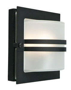 Bern Frosted Outdoor Wall Light - London Lighting - 1