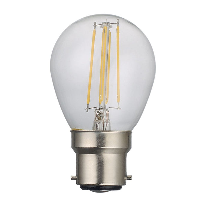 Clear Golf Ball Lamp Warm White 4W LED B22 - ID 9784
