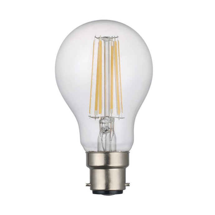 Clear GLS Lamp Warm White 8W LED B22 - ID 9817