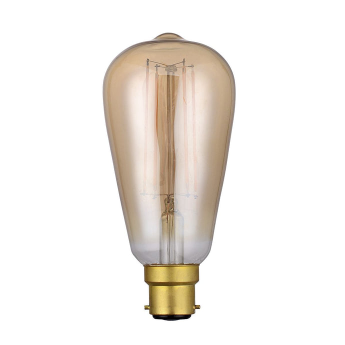 Vintage Strait Filament Lamp Warm White 4W LED B22 - ID 8809