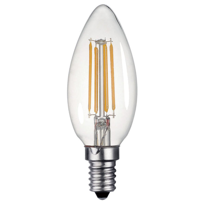 Clear Candle Lamp Warm White 4W LED E14 - ID 9559