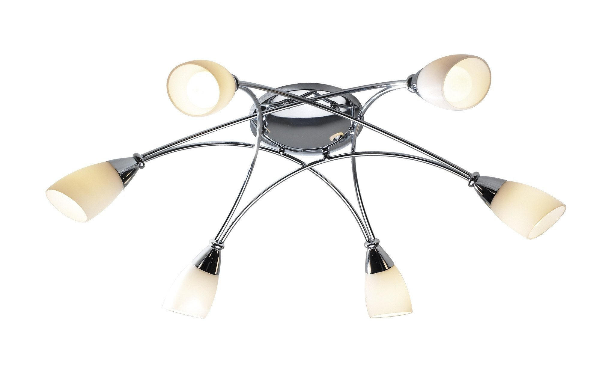 Bureau Chrome 6 Lamp Ceiling Light - London Lighting - 1