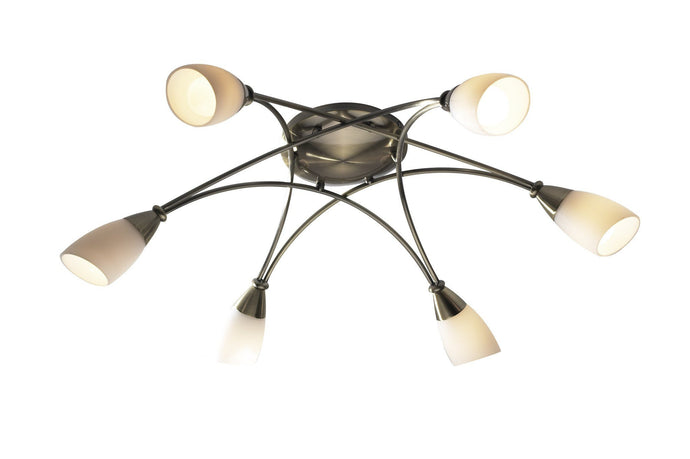 Bureau Antique 6 Lamp Ceiling Light - London Lighting - 1