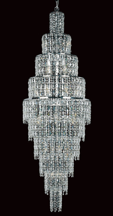 Grove Ten Tiered 24 Light Cascading Crystal Chandelier In Polished Chrome - ID 8113