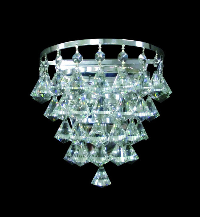 Single Crystal & Chrome Wall Light - ID 2230