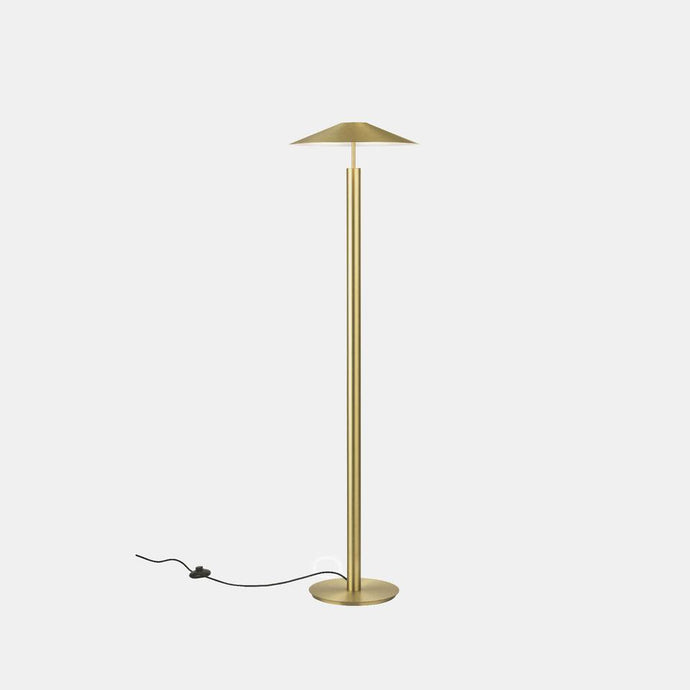 HAT Matt Gold Up & Down Diffused Floor Light - ID 10732