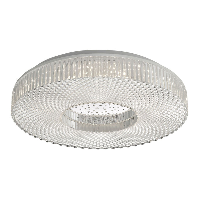 CIM Faceted Crystal Effect Small Flush Ceiling Light - ID 10931