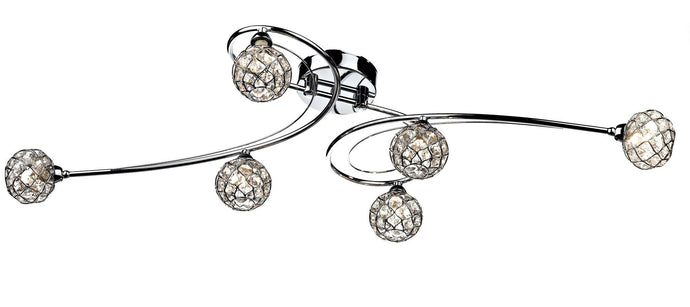 Circa Chrome 6 Lamp Ceiling Light - London Lighting - 1