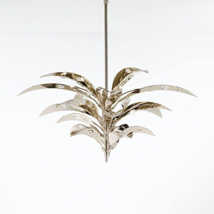 Crystal Palm 12 Light Pendant