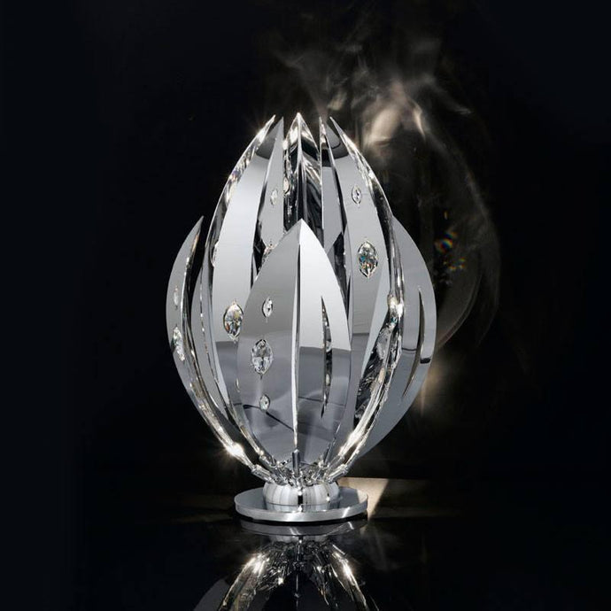 Crystal Palm Table Lamp