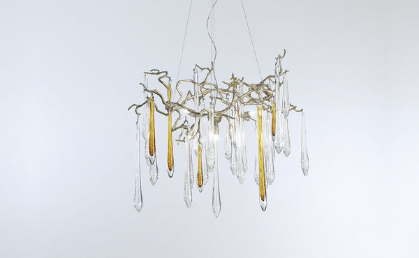 Serip Aqua 6 Lamp Organic Bespoke Chandelier - London Lighting - 1