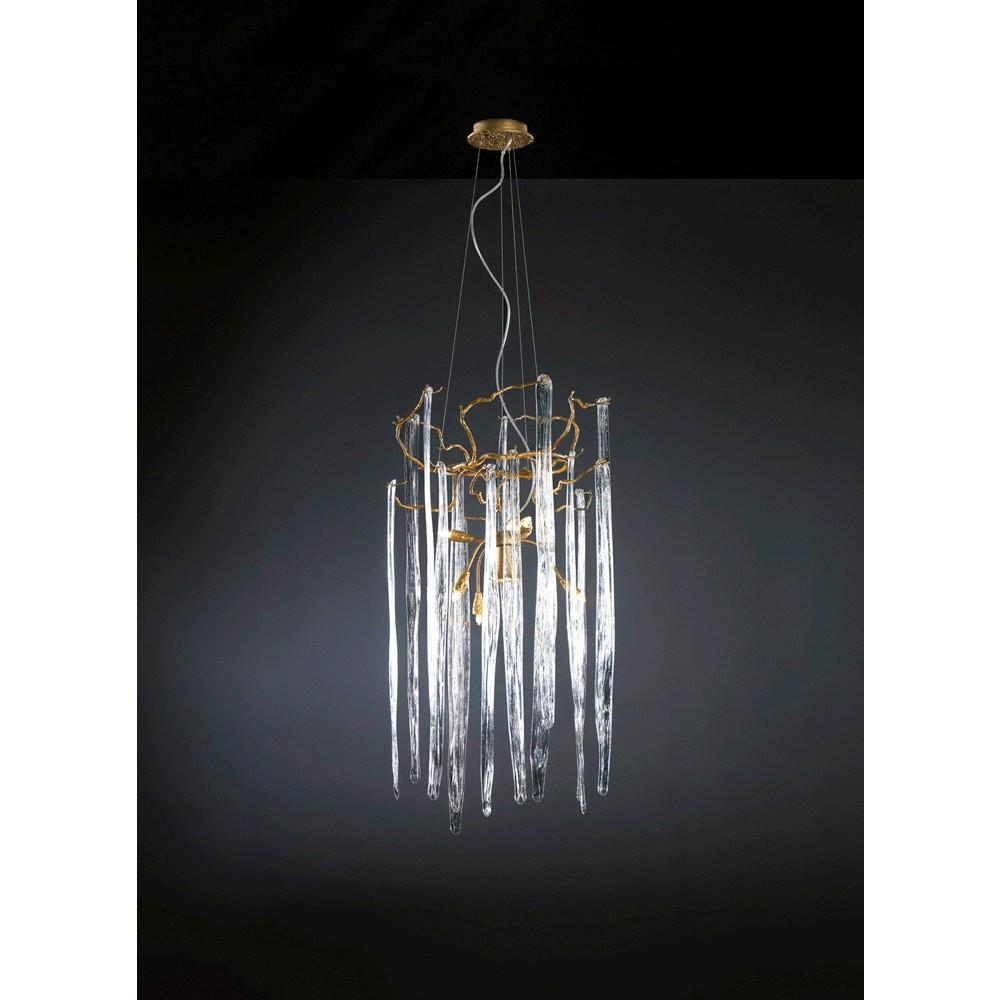 Serip Waterfall 9 Lamp Round Bespoke Chandelier - London Lighting - 1