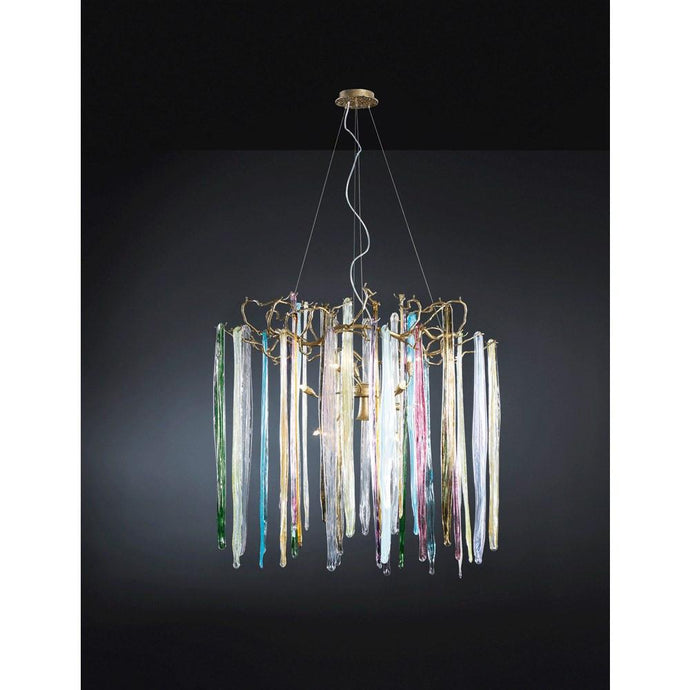 Serip Waterfall 10 Lamp Round Bespoke Chandelier - London Lighting - 1