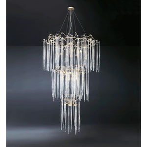 Serip Waterfall 3 Tier 30 Lamp Bespoke Chandelier - London Lighting - 1