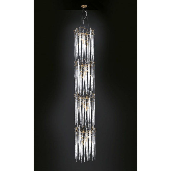 Serip Waterfall 2 Tier Bespoke Chandelier - London Lighting - 1