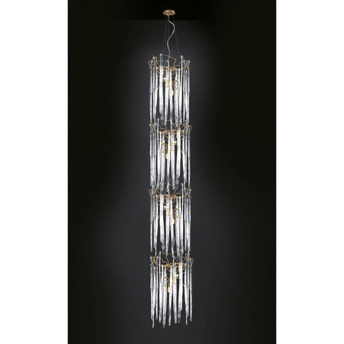 Serip Waterfall 3 Tier 24 Lamp Bespoke Chandelier - London Lighting - 1
