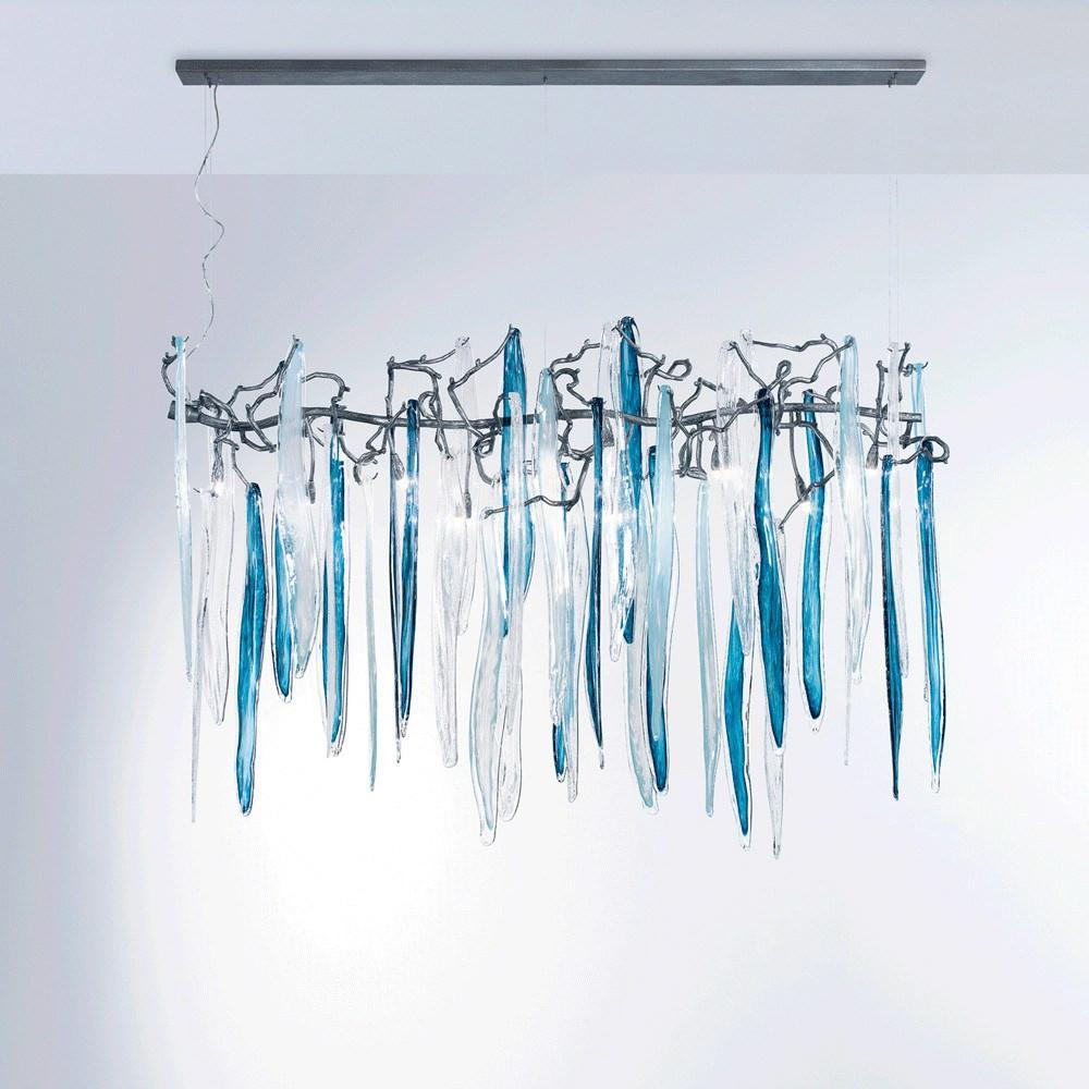 Serip Waterfall 9 Lamp Bespoke Chandelier - London Lighting - 1