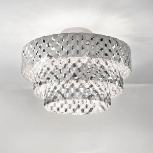 Capitonne 50cm Diameter Semi Flush Pendant Light