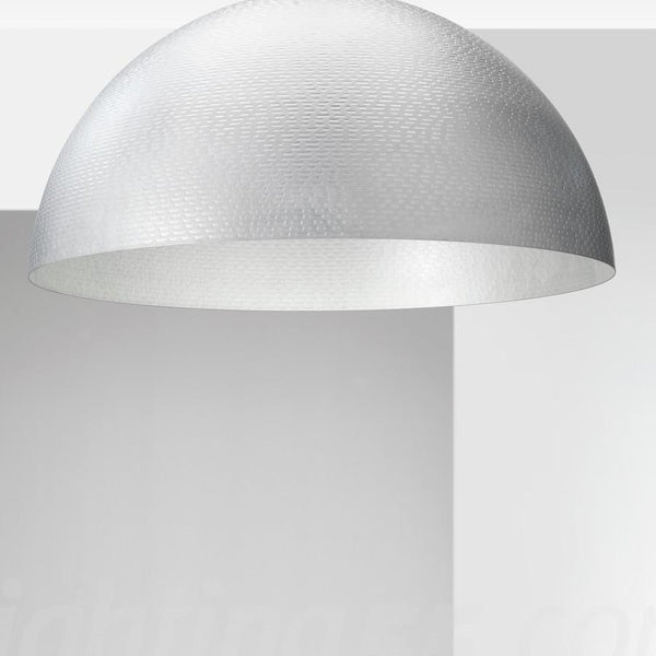 Capri 1 Light Flush 35cm Diameter Flush Dome Ceiling Light
