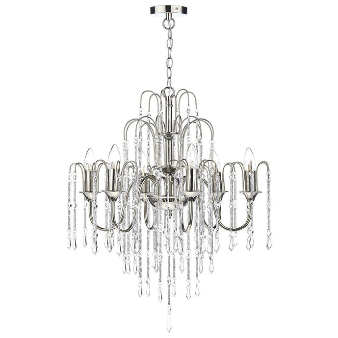 Daniella Polished Nickel 6 Lights Pendant Light - London Lighting - 1