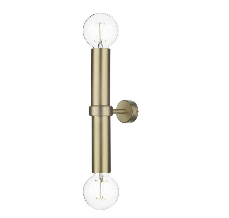 Brushed Brass Cylinder Double Wall Light - ID 10158
