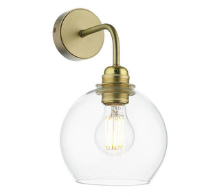 Apollo Brass and Glass Wall Light - ID 10153